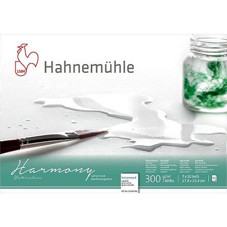Bloco Aquarela Harmony 300g/m² Hot Pressed 17,8x25,4cm 12fls Hahnemuhle