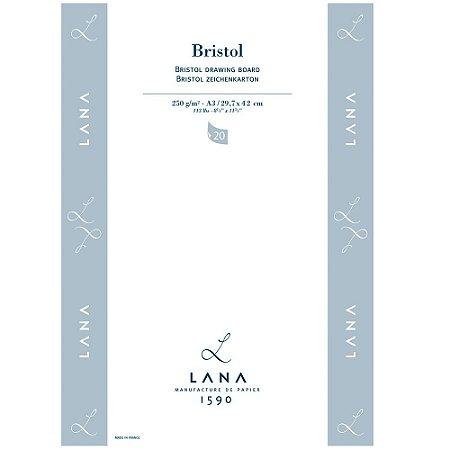 Bloco Lana Bristol A3 250g 20 Fls