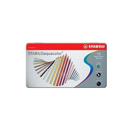 Lápis Aquarelavel Stabilo Aquacolor 12 Cores