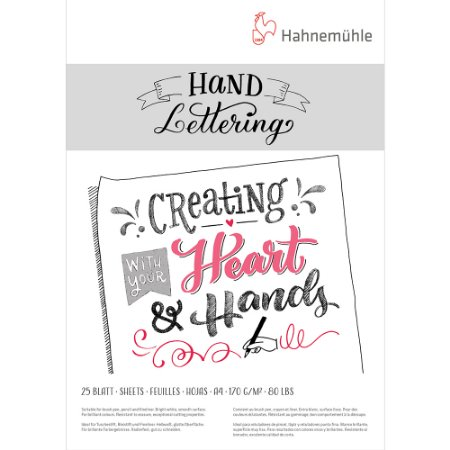 Bloco Hand Lettering 170g A4 C/ 25 Fls