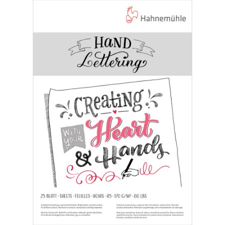 Bloco Hand Lettering 170g A5 C/ 25 Fls