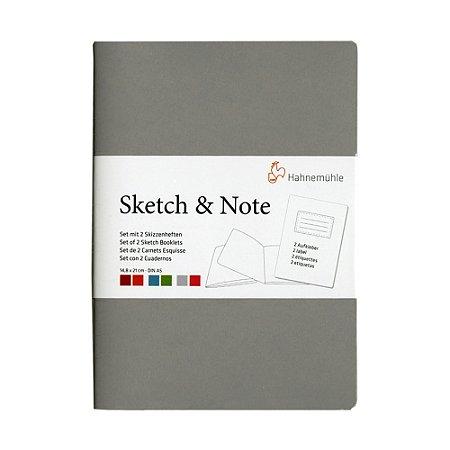 Caderneta Sketch & Note 125g A5 C/ 20Fls (Cinza e Pink)