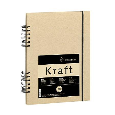 Sketch Book Kraft 120g Meia Espiral A4 C/ 80 Fls