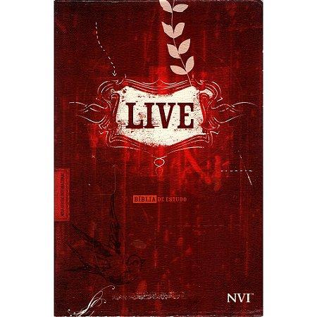 Bíblia de Estudo Live - Capa Luxo Estampada Vermelha