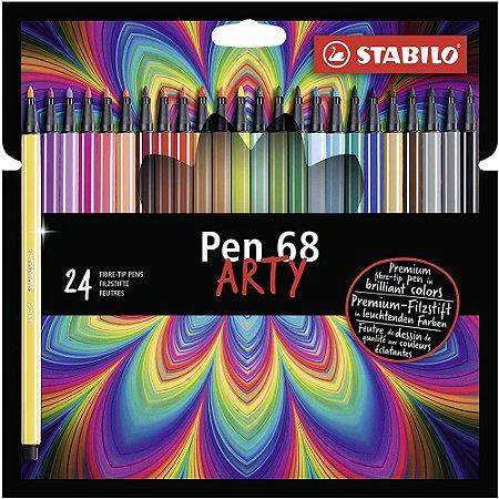 Caneta Stabilo Pen 68 Arty C/24 Cores 6824