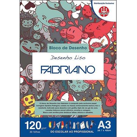 Papel Desenho Liso A3 120g 30 Folhas