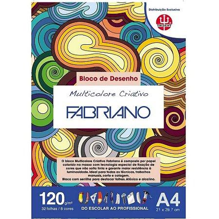 Papel Multicolore Criativo 8 Cores A4 120g 32 Folhas