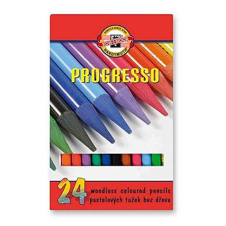 Lápis De Cor Integral Progresso 24 Cores Koh-I-Noor 8758
