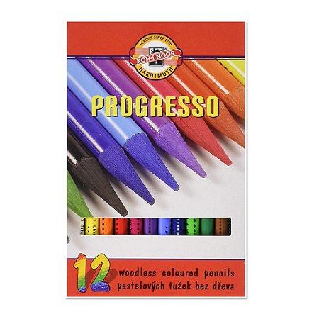 Lápis de Cor Integral Progresso 12 Cores Koh-I-Noor 8756