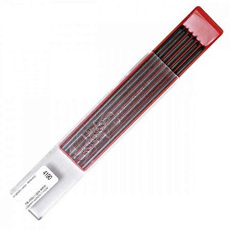 Mina Grafite 2,0mm 6B C/12 Unid. 4190