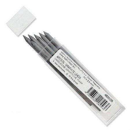 Mina Grafite 3,8mm 2B C/6 Unid. 4820