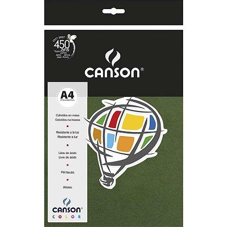 Papel Colorido A4 Canson Color Verde Amazonas 180g 10 Folhas