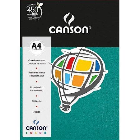 Papel Colorido A4 Canson Color Verde Menta 180g 10 Folhas