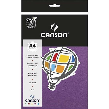Papel Colorido A4 Canson Color Violeta A4 180G 10 Folhas