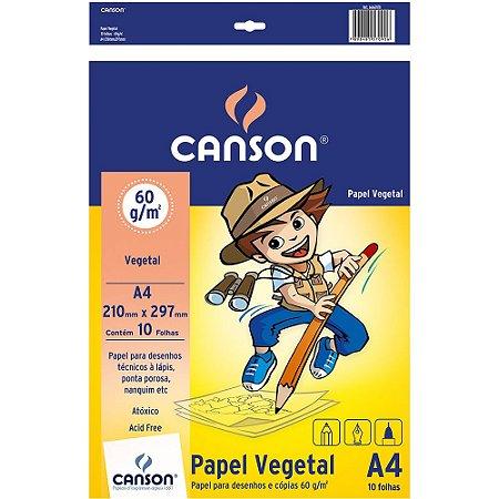 Papel Vegetal Escolar A4 60G 10Fls Canson 66667078