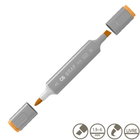 Marcador Cis Graf Duo Brush Orange 23