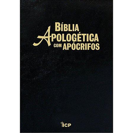 Bíblia Apologética Com Apócrifos - Capa Luxo Preta