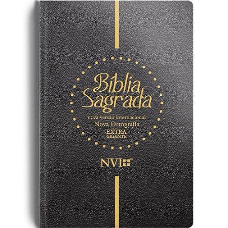 Bíblia Sagrada Nvi Extra Gigante - Capa Semi Luxo Preta
