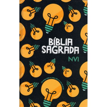 Bíblia Nvi Grande Nova Ortografia Lateral Artística - Lâmpada