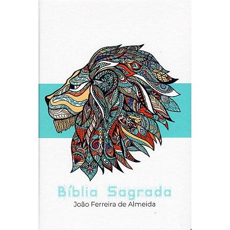 Bíblia Rc Grande Capa Especial C/ Lateral Artística - Azul Leão