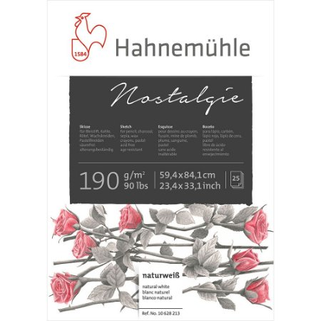 Bloco Nostalgie Sketch Pad A2 Hahnemuhle 190 g/m² 50 Folhas