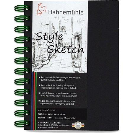 Caderno A6 Style Sketch Hahnemuhle 120 g/m² 64 Fls Espiral Verde
