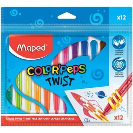 Giz de Cera Maped  Color Peps Twist 12 Cores