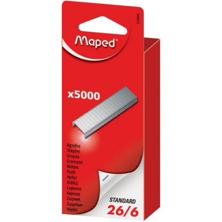 Grampos Maped 26/6 Caixa C/ 5.000 Unidades 324606