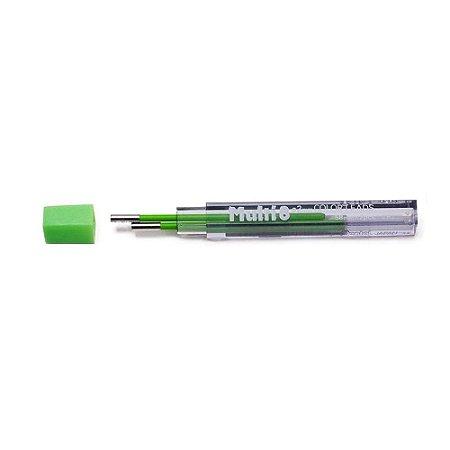 Minas De Grafite Pentel 2,0mm Verde Limão P/ Multi 8 Ch2-K