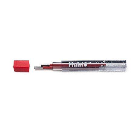 Minas De Grafite Pentel 2,0mm Vermelho P/ Multi 8 Ch2-B