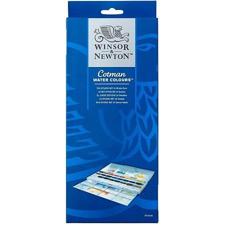 Aquarela Em Pastilha Winsor & Newton Cotman C/24 Cores 0390084