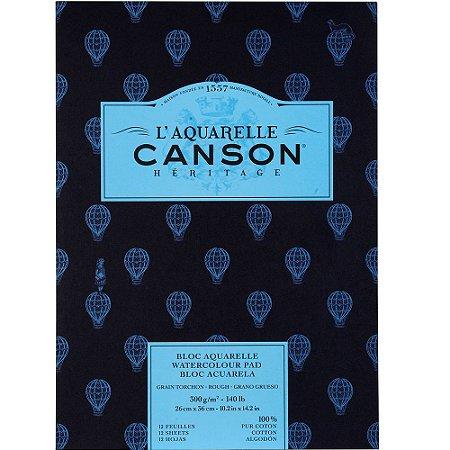 Bloco Canson Heritage Aquarela Textura Grossa 26x36 12fls 300g