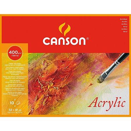 Bloco Canson Acrylic 32x41 10fls 400g