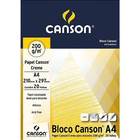 Bloco Papel Canson Desenho Creme A4 20fls 200g 66667042