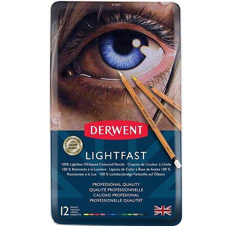 Lápis De Cor Permanente Lightfast 12 Cores Estojo Lata 2302719