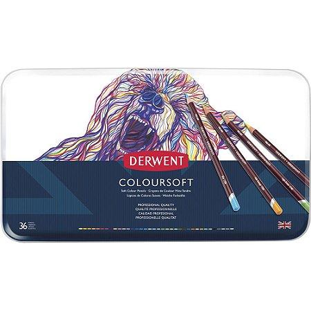 Lápis De Cor Permanente Coloursoft 36 Cores Estojo Lata 0701028