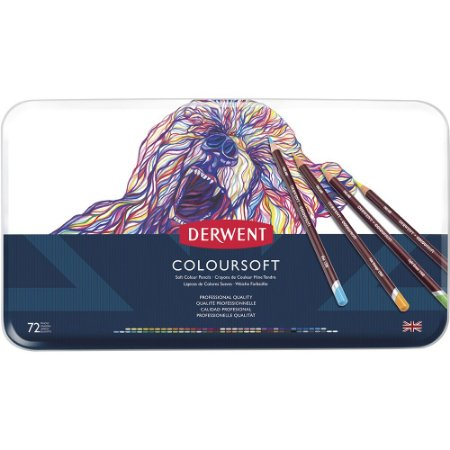 Lápis De Cor Permanente Coloursoft 72 Cores Estojo Lata 0701029
