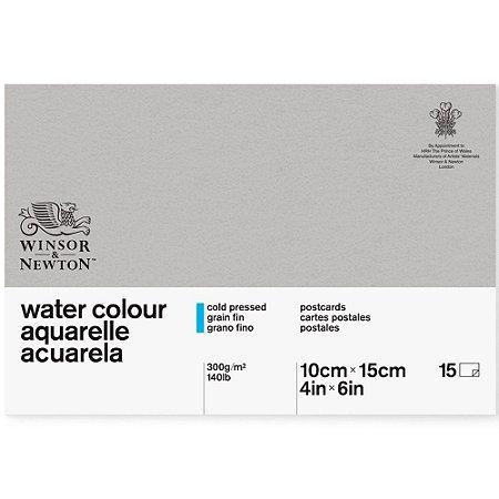 Papel Aquarela Winsor & Newton Postcard Bloco C/15fls 10x15cm 300g 6663255