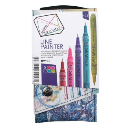 Kit Estojo Com 5 Canetas Graphik Line Painter 0,5mm - Paleta #03 2302232