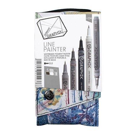 Kit Estojo Com 5 Canetas Graphik Line Painter 0,5mm - Paleta #04 2302233