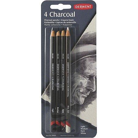 Lápis Carvão 4 Unidades Blister