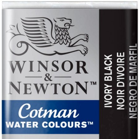 Aquarela Em Pastilha Cotman Winsor E Newton Avulso Ivory Black 0301331