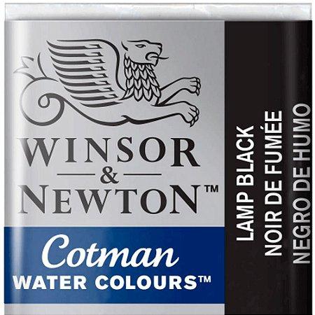 Aquarela Em Pastilha Cotman Winsor E Newton Avulso Lamp Black 0301337