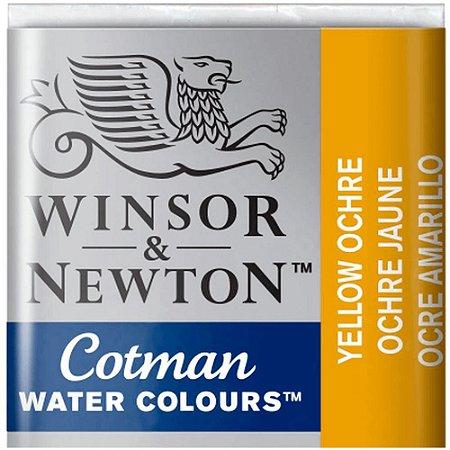 Aquarela Em Pastilha Cotman Winsor E Newton Avulso Yellow Ochre 0301744