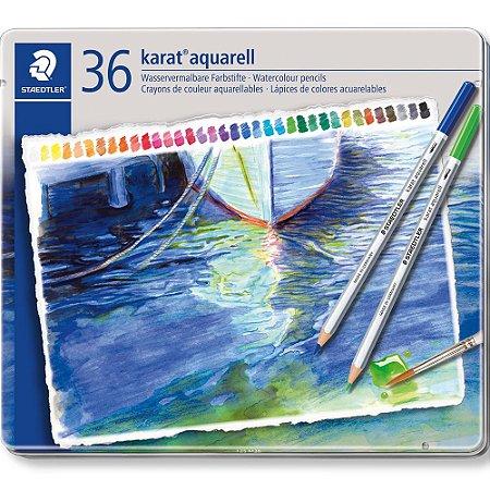 Estojo Lápis Cor Aquarelavel Karat 36 Cores Staedtler Aquarell