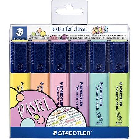Kit C/6 Marca Texto Staedtler Tons Pastel Textsurfer Classic