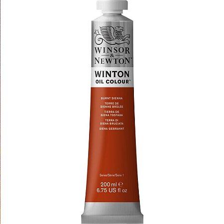 Tinta Óleo Winton Burnt Sienna Winsor & Newton Tubo 200ml