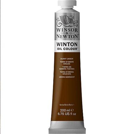Tinta Óleo Winton Winsor & Newton Burnt Umber Tubo 200ml