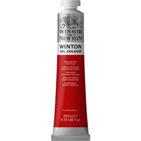 Tinta Winton Óleo Cadmium Red Deep Hue Winsor & Newton 200ml