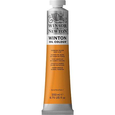Tinta Óleo Winton Cadmium Yellow Deep Hue Winsor & Newton 200ml
